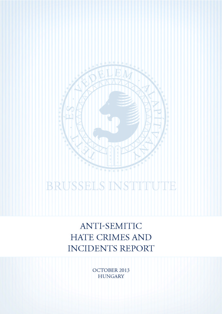 Anti-Semitic Hate Crimes And Incidents Report October 2013