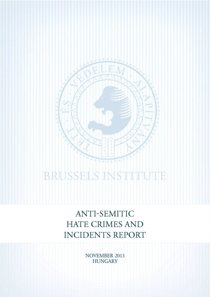 Anti-Semitic Hate Crimes And Incidents Report November 2013