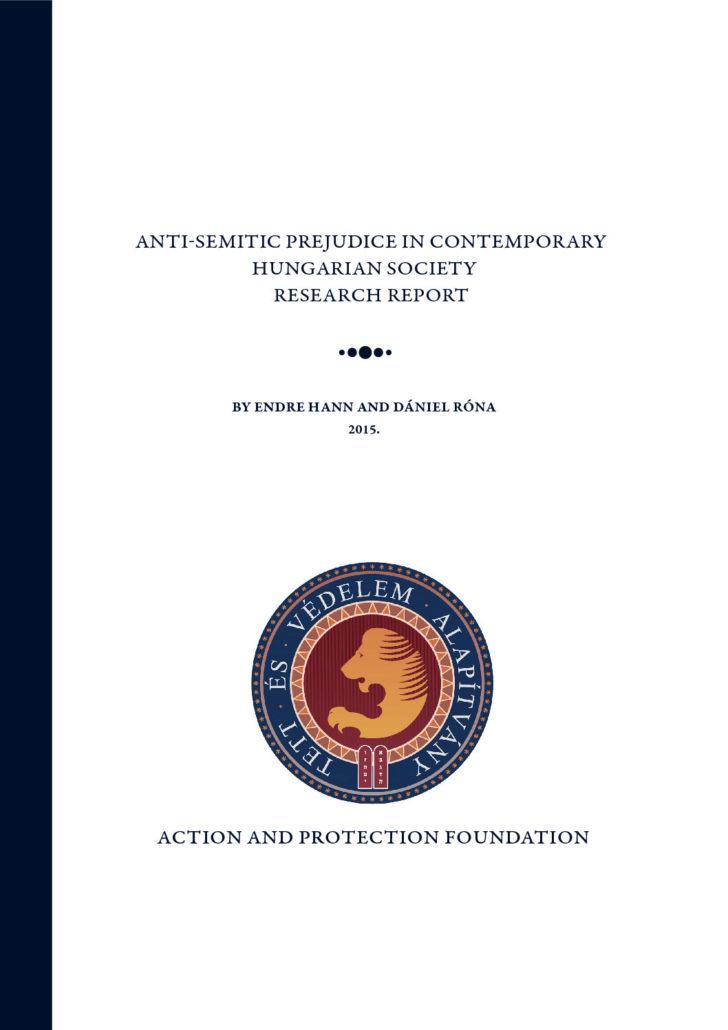 Anti-Semitic Prejudice In Contemporary Hungarian Society Research Report – 2014
