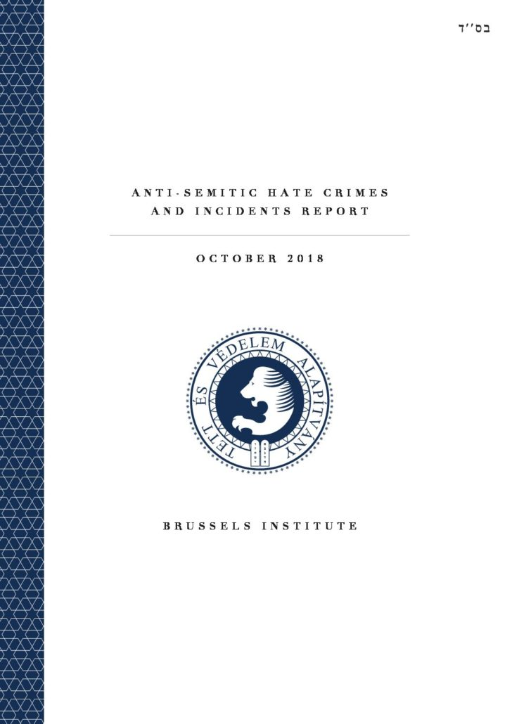 Anti-Semitic Hate Crimes And Incidents Report October 2018