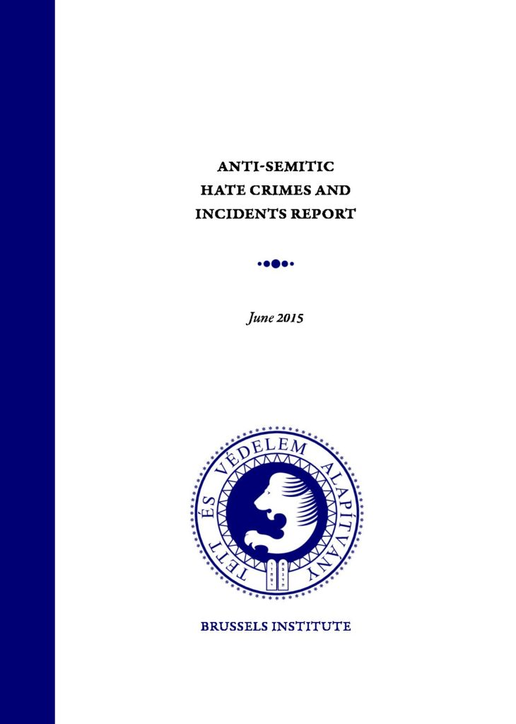Anti-Semitic Hate Crimes And Incidents Report June 2015