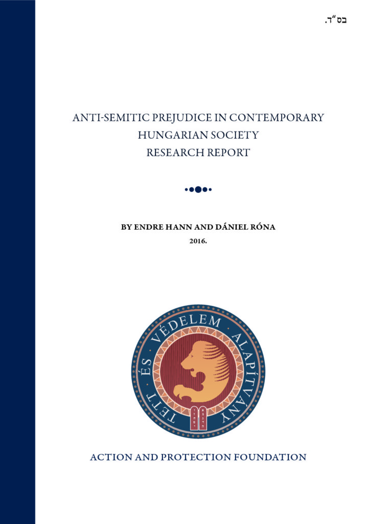Anti-Semitic Prejudice In Contemporary Hungarian Society Research Report – 2015