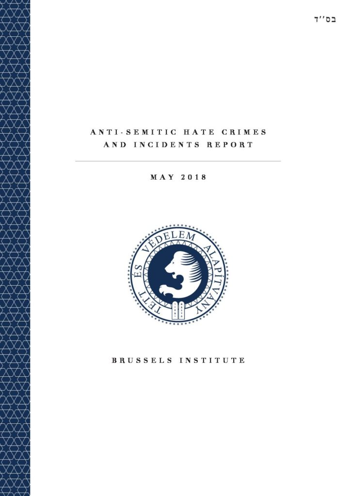Anti-Semitic Hate Crimes And Incidents Report May 2018