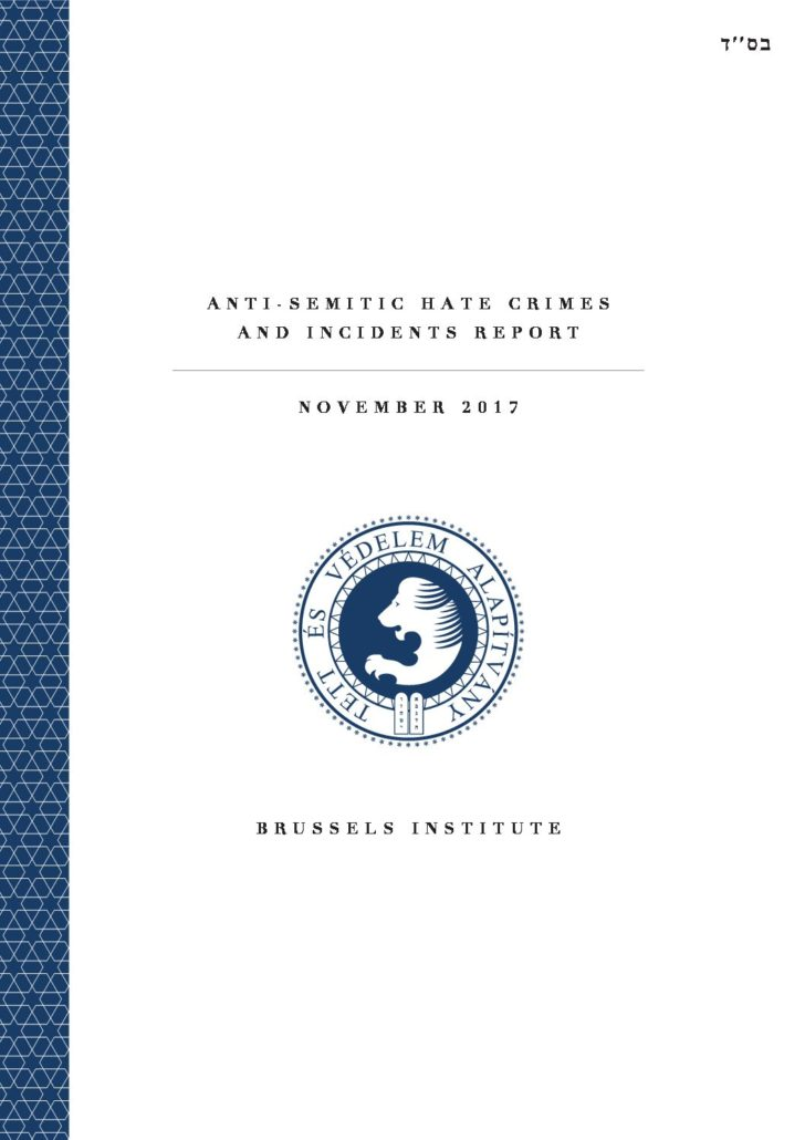 Anti-Semitic Hate Crimes And Incidents Report November 2017